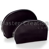Satin Fabric Bag Black Cosmetic Round Gift High Standard Toiletry Lipstick Brush