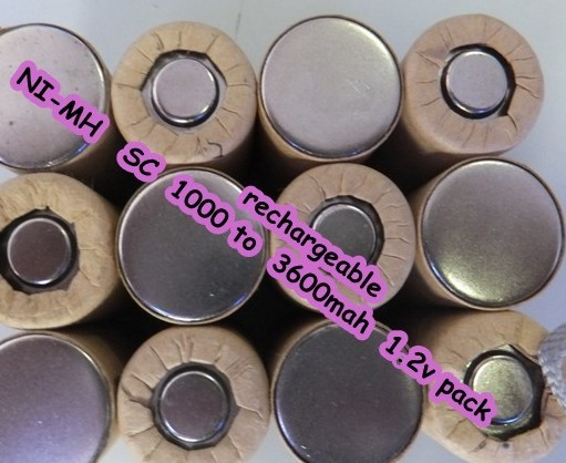 Sc Rechargeable Battery 1 2v Pack