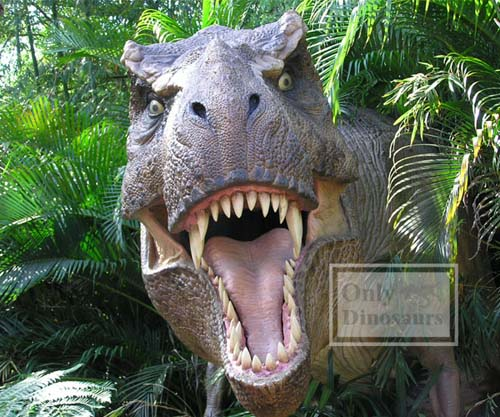 Scary Life Size Animatronic Dinosaur Model