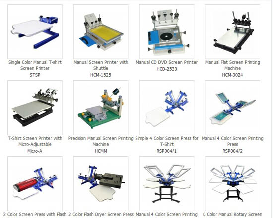 Screen Printing Press Manual Printer Machine