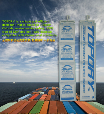 Sea Shipping Control Moisture Topdry Desiccant