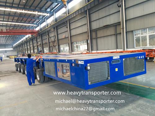 Self Propelled Modular Transporter Spmt Pst E Multi Axle Hydraulic Platform Trailer