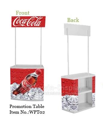 Sell Advertising Plastic Promotion Table 180cm Assemble Supermarket