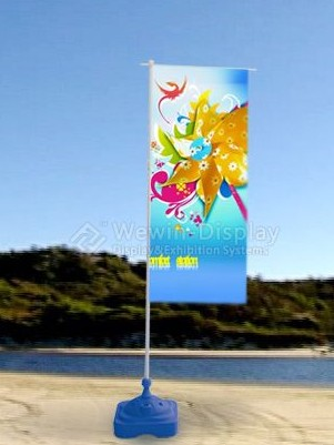 Sell Aluminum Beach Flagpole Bright Resolution Colors