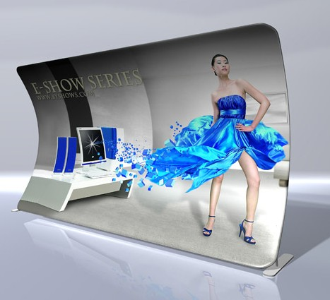 Sell Curved Shape Pop Up Display