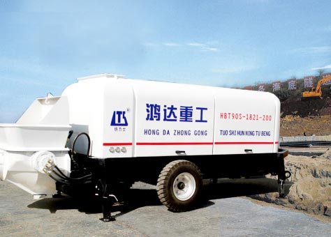 Sell Hongda Trailer Mounted Concrete Pump