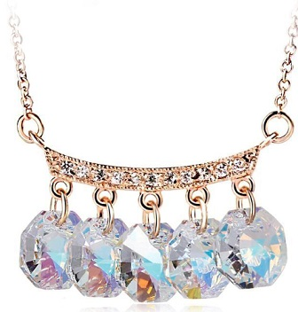 Sell Ouxi Hot Sale Fashion Jewelry 18k Gold Necklace Made With Swarovski Elements Crystal 10315 1031
