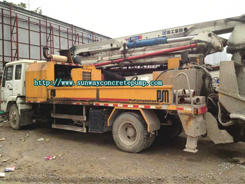 Sell Pm Putzmeister 08 Truck Mounted Concrete Pump