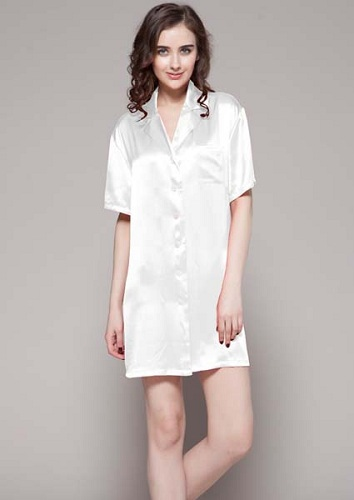 Sell Pure Silk Night Shirts From Hangzhou Silkworkshop