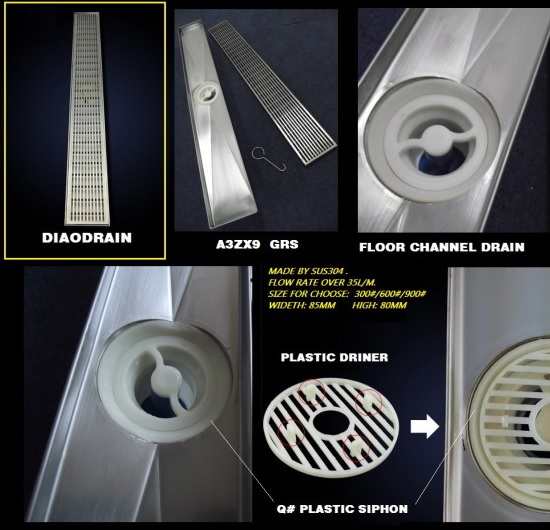 Sell The Hot Fashional Anti Slip Floor Channel Drain For Bath A3x9 Grs Series