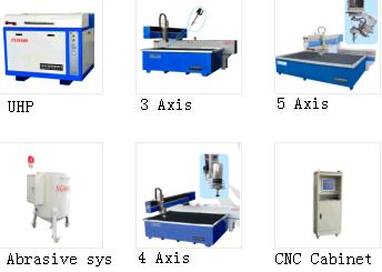 Sell Water Jet Cutting Machine For Multi Function Use Marble Granite Glass Rubber