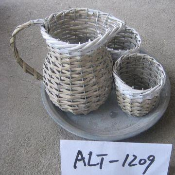 Sell Wicker Flower Basket Willow Garden