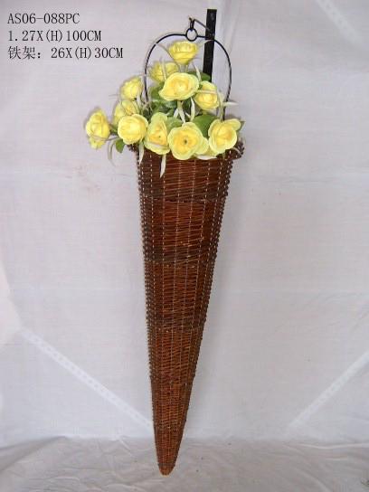 Sell Willow Flower Basket Wicker Garden Pot Planter Gardne Bamboo