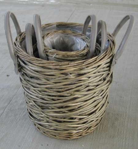 Sell Willow Flower Basket Wicker Garden Pot Planter Gardne