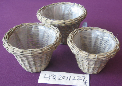 Sell Willow Flower Basket Wicker Garden Pot Planter