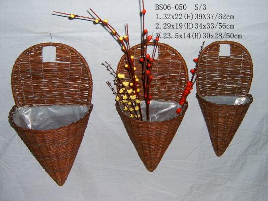 Sell Willow Flower Basket Wicker Garden Pot Planter Wood Bamboo Zinc Seagrass Rattan