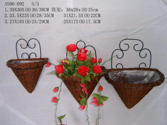 Sell Willow Flower Basket Wicker Garden Pot Planter Wood Bamboo Zinc Seagrass
