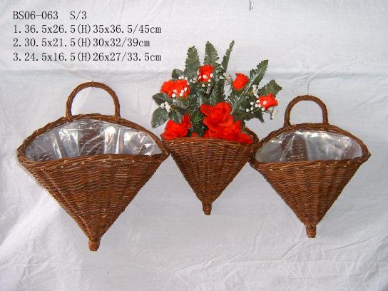 Sell Willow Flower Basket Wicker Garden Pot Planter Wood Bamboo Zinc