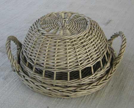 Sell Willow Flower Basket Wicker Garden Vase Planter Decorations