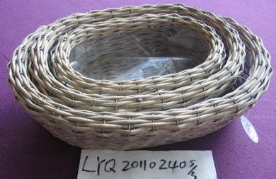 Sell Willow Flower Basket Wicker Garden Vase Planter