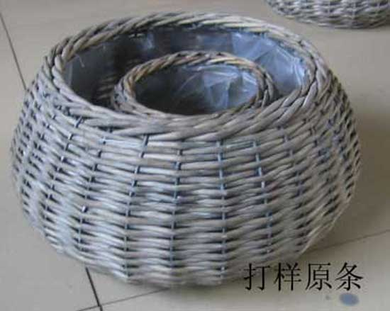 Sell Zinc Garden Pot Willow Flower Basket Iron