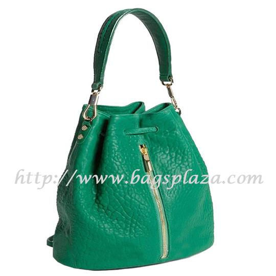 Selling Single Shoulder Bag Teal Basket Genuine Leather Handbag Md5 132