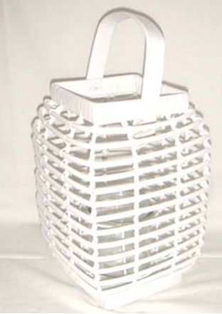 Selling Wicker Lantern Willow Flower Basket Garden Planter Pot Zinc Lanter