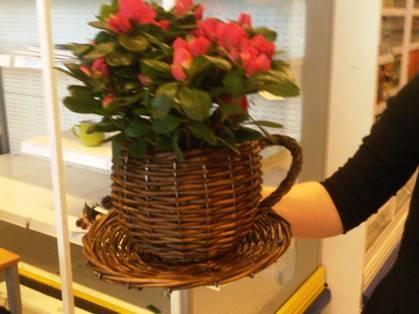 Selling Willow Flower Basket Wicker Garden Planter Pot