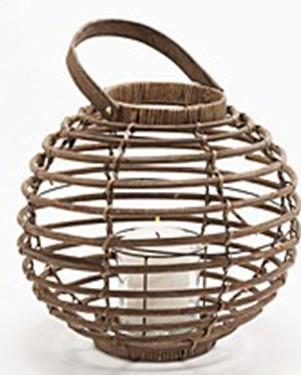 Selling Willow Flower Basket Wicker Garden Planter Pot Zinc