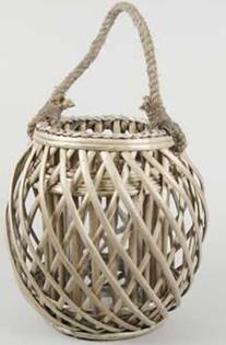 Selling Willow Lantern Flower Basket Wicker Garden Planter Pot Zinc Lanter Airon