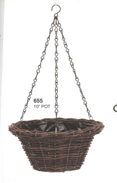 Selling Wilow Flower Basket Wicker Iron Garden Pot