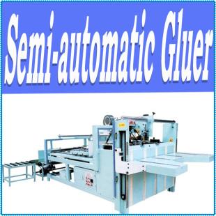 Semi Auto Carton Box Folding Gluing Machine