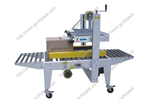 Semi Automatic Carton Sealer With Side Belts Driven