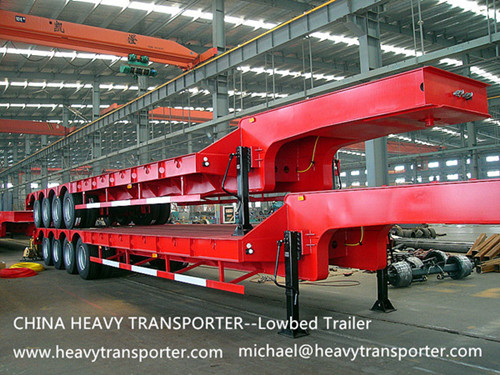 Semi Trailer Lowbed Lowboy Low Loader Container Extendable Vehicle Modular