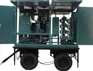 Series Zym Mobile Type Vacuum Insulating Oil Purifier
