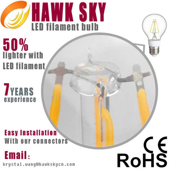 Seven Years Save 90 Iso 9001 Hosh Led Filament Bulb Factory