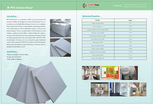 Shanghai Pvc Celuka Board Goldensign Biggest Manufactuerer