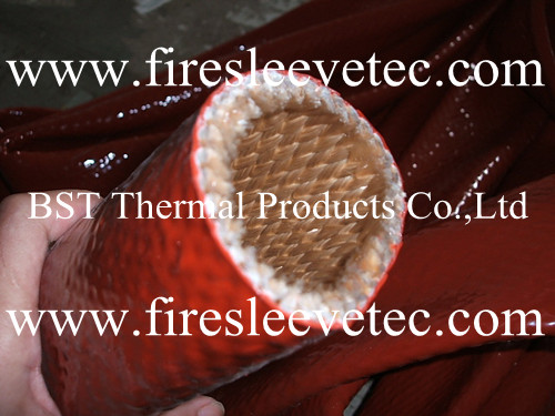 Silicone Coated Fiberglass Fire Sleeve Pyrojacket