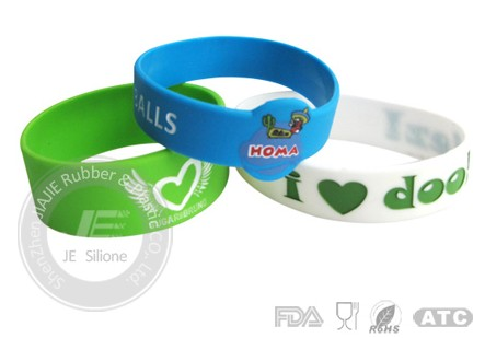 Silicone Necklace Printing Bracelet Price Manufacture