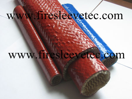 Silicone Rubber Coated Fiberglass Braided Fire Resistant Sleeve