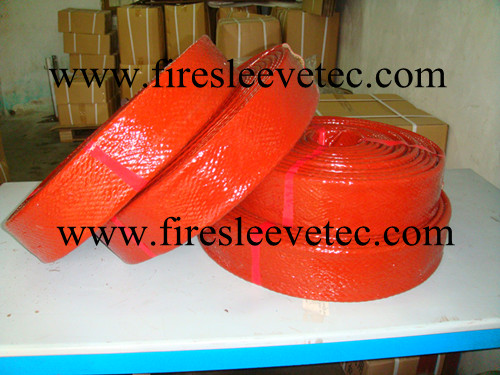 Silicone Rubber Coated Fiberglass Braided Fire Sleeve
