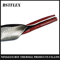 Silicone Rubber Coated Fiberglass Fire Sleeve With Velcro Closure