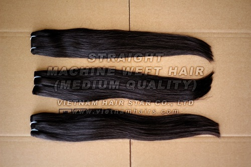 Silk Straight Hair Extension Human Weft