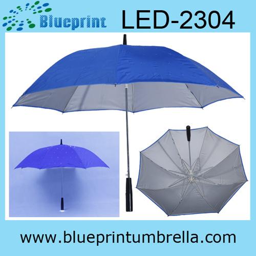 Silver Coated Uv Protection Advanced Led Umbrella