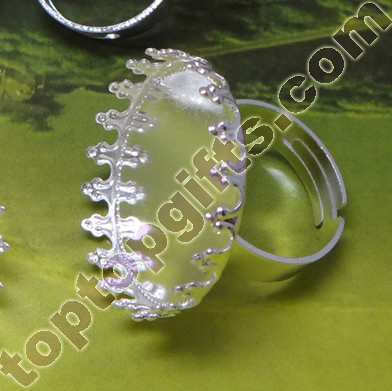 Silver Plated Crown Ring Base Support