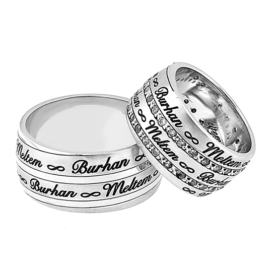 Silver Wedding Bands Rings