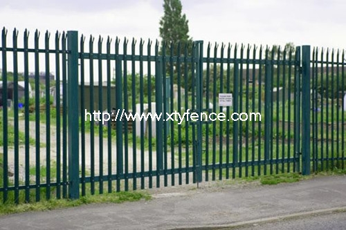 Simple European Type Fence Palisade Fencing