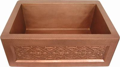 Single Bowl Farmhouse Sink Copper Mycks0010