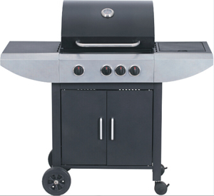 Single Layer Black Power Coating Hood Lpg Or Natural Bbq Grill