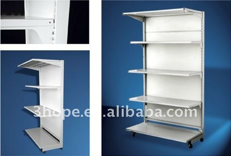 Single Sided Board Supermarket Shelving System